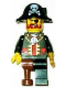 Minifig No: tls043  Name: Lego Brand Store Male, Pirate Captain Brickbeard - Nashville