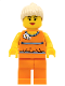 Minifig No: tls057  Name: Lego Brand Store Female, Orange Halter Top (no back printing) {Saarbrücken}