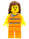 Minifig No: tls059  Name: Lego Brand Store Female, Orange Halter Top - Sunrise