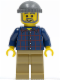 Minifig No: tls073  Name: Lego Brand Store Male, Plaid Button Shirt, Dark Tan Legs (no back printing) {München}