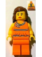 Minifig No: tls074  Name: Lego Brand Store Female, Orange Halter Top - Alpharetta