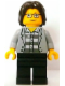 Minifig No: tls079  Name: Lego Brand Store Male, Jail Prisoner Jacket over Prison Stripes (no specific back printing) {Leeds}