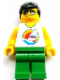 Minifig No: tls084  Name: Lego Brand Store Male, Surfboard on Ocean - Toronto Yorkdale