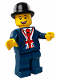 Minifig No: tls094  Name: Lego Brand Store Male, Bowler Hat, Lester - Leicester Square London UK