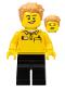 Minifig No: tls099  Name: Lego Brand Store Employee, Hair Swept Left Tousled