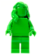 Minifig No: tls105  Name: Bright Green Monochrome with Mid-Length Hair over Shoulder