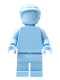 Minifig No: tls108  Name: Bright Light Blue Monochrome with Smooth Part
