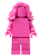 Minifig No: tls110  Name: Dark Pink Monochrome with Mid-Length Wavy Hair