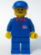 Minifig No: tne001  Name: Tine Milk - Blue Torso (Stickers), Blue Legs, Blue Cap