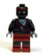Minifig No: tnt005  Name: Foot Soldier - Robot, Dark Red Legs