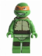 Minifig No: tnt038  Name: Michelangelo, Gritted Teeth, Smudges