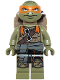 Minifig No: tnt040  Name: Michelangelo, Frown (Movie Version)