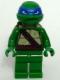 Minifig No: tnt053  Name: Leonardo - Plain Green Legs