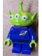 Minifig No: toy015  Name: Alien - Yellow Splotch on Face