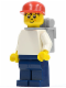 Minifig No: trn004  Name: Timmy, Dark Blue Legs, Red Cap, Backpack