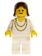 Minifig No: trn006  Name: Necklace Gold - White Legs, Brown Female Hair