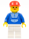 Minifig No: trn016  Name: Jogging Suit, White Legs, Red Cap