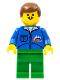 Minifig No: trn018  Name: Bulldozer Logo - Green Legs, Brown Male Hair