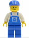 Minifig No: trn026  Name: Overalls Blue with Pocket, Blue Legs, Blue Cap
