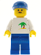 Minifig No: trn036  Name: Palm Tree - Blue Legs, Blue Cap