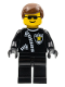 Minifig No: trn043  Name: Police - Zipper with Sheriff Star, Brown Male Hair