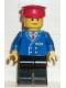 Minifig No: trn045  Name: Railway Employee 1, Black Legs