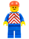 Minifig No: trn048  Name: Red & White Stripes - Blue Legs, Red Cap