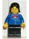 Minifig No: trn064  Name: Railway Employee, Black Female Hair