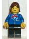 Minifig No: trn065  Name: Railway Employee, Brown Female Hair