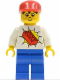 Minifig No: trn067  Name: Railway Brickster with Big Red Brick on Chest