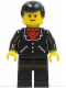 Minifig No: trn083  Name: Suit with 3 Buttons Black - Black Legs, Black Male Hair