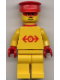 Minifig No: trn102a  Name: Railway Employee Lego Loco 1, Red Plastic Cape