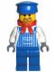 Minifig No: trn131  Name: Engineer Max with Dark Bluish Gray Hands