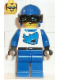 Minifig No: twn002  Name: Race - Driver, Blue Shark