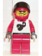 Minifig No: twn010  Name: Race - Driver, Red Scorpion, Red Helmet