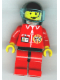 Minifig No: twn025  Name: TV Logo in Globe on Red Jacket, Red Legs with Black Hips, Headset Pattern