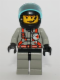 Minifig No: twn038  Name: Fire - City Center 2, Light Gray Legs with Black Hips, Black Helmet