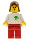 Minifig No: twn043  Name: Palm Tree - Red Legs, Brown Female Hair