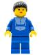 Minifig No: twn046  Name: Jogging Suit, Blue Legs, Black Ponytail Hair