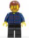 Minifig No: twn150  Name: Plaid Button Shirt, Black Legs, Reddish Brown Male Hair, Brown Beard Rounded