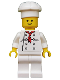 Minifig No: twn192  Name: Chef - White Torso with 8 Buttons, Black Wrinkles, NO Back Print, White Legs, Standard Grin