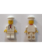 Minifig No: twn192a  Name: Chef - White Torso with 8 Buttons, Light Bluish Gray Wrinkles, WITH Back Print, White Legs, Standard Grin