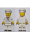 Minifig No: twn192b  Name: Chef - White Torso with 8 Buttons, No Wrinkles Front or Back, with Back Print, White Legs, Standard Grin