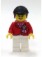 Minifig No: twn194  Name: Red Riding Jacket with Award Ribbon, White Legs, Black Riding Helmet