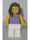 Minifig No: twn234  Name: Mom - Dark Purple and Lavender Striped Top