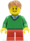 Minifig No: twn242  Name: Boy, Green V-Neck Sweater, Red Short Legs