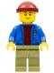 Minifig No: twn263  Name: Light Keeper, Blue Anchor Jacket