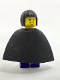 Minifig No: twn281  Name: Female Dark Purple Blouse with Gold Sash and Flowers, Dark Purple Legs, Black Bob Cut Hair, Cape