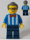 Minifig No: twn292a  Name: Carousel Ticket Vendor with Back Print