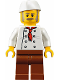 Minifig No: twn310  Name: Chef, Moustache, Dark Tan and Gray Sideburns, Stubble